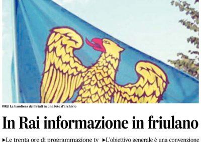 In Rai informazione in Friulano