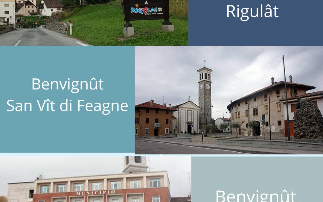 Ancje i Comuns di Rigulât, Codroip e San Vît di Feagne e ientrin te assemblee furlane di Aclif